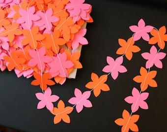 Paper flower garland, Spring garland, Wedding garland, Birthday party garland, Party decor, Flower garland, Flower party decorations