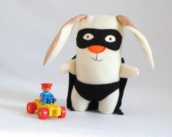 Superhero Plush, Bunny Stuffed Animal, Stuffed Toy, Toddlers Gift, Super-Hero Plush Toy, Stuffed Animal, SuperHero Plushy Doll, Bunny Toy