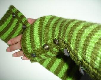 Benutzerdefinierte gestrickt fingerlose Handschuhe oder Armlinge mit Knöpfen