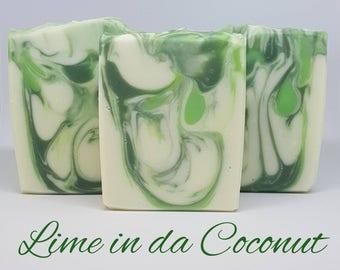 Lime in da Coconut Handmade Soap