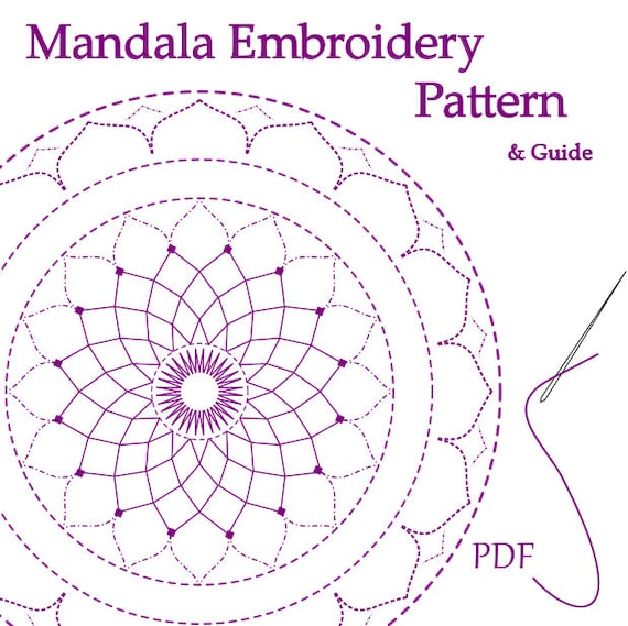 Hand Embroidery Mandala Pattern Printable Pdf Download
