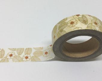 Gold Embellished Japanese Sakura Washi Tape