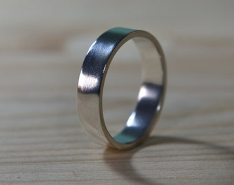 Mens Sterling Silver Wedding Band. Silver Wedding Ring for Men. Mens Wedding Rings. Sterling Silver Wedding Band. Wedding Band for Men