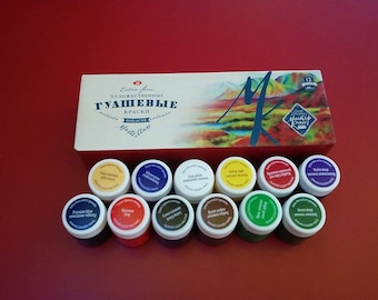 Gouache Paint Set Extra Fine MASTER CLASS 12X40ml Craft RUSSIA Russian