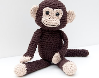 PDF Crochet Pattern - Monkey Business Amigurumi Monkey Doll