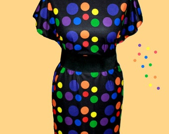 TWISTER DRESS (handmade & custom printed fabric)