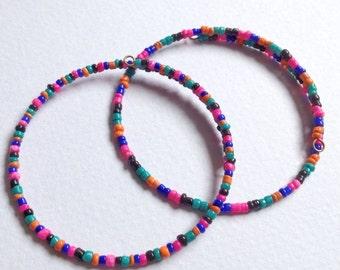 Set of 2 Eco Friendly Moody-Rainbow Minimalist Friendship Bracelets