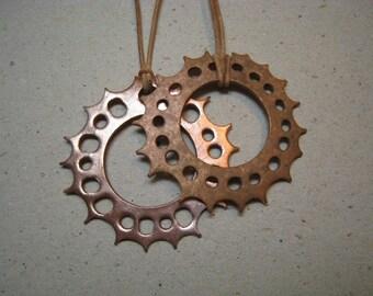 Rustic Sun Disk Reversible Copper Pendant - Rustic Pendant - Sun Pendant - Reversible Pendant