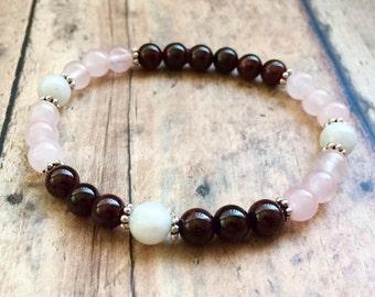 PCOS Fertility Bracelet,  Fertility Gift, TTC Bracelet, Rainbow Baby Bracelet, Fertility Crystal Jewelry, PCOS Support.