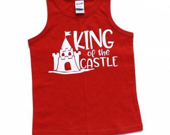 King of the Castle, Summer shirt, Beach shirt, beach tank top, kids tank, boys tank, baby shirt, summer shirt, toddler tank