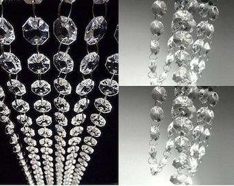 Acrylic crystals etsy 30ft acrylic crystal garland hanging bead chains decorations mozeypictures Images