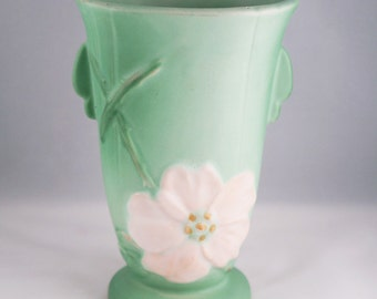 Weller Wild Rose Green Vase-available as pair or individual