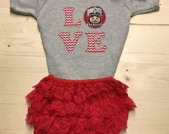 Osu Bodysuit Lace Diaper Cover And Headband Set Made From Osu