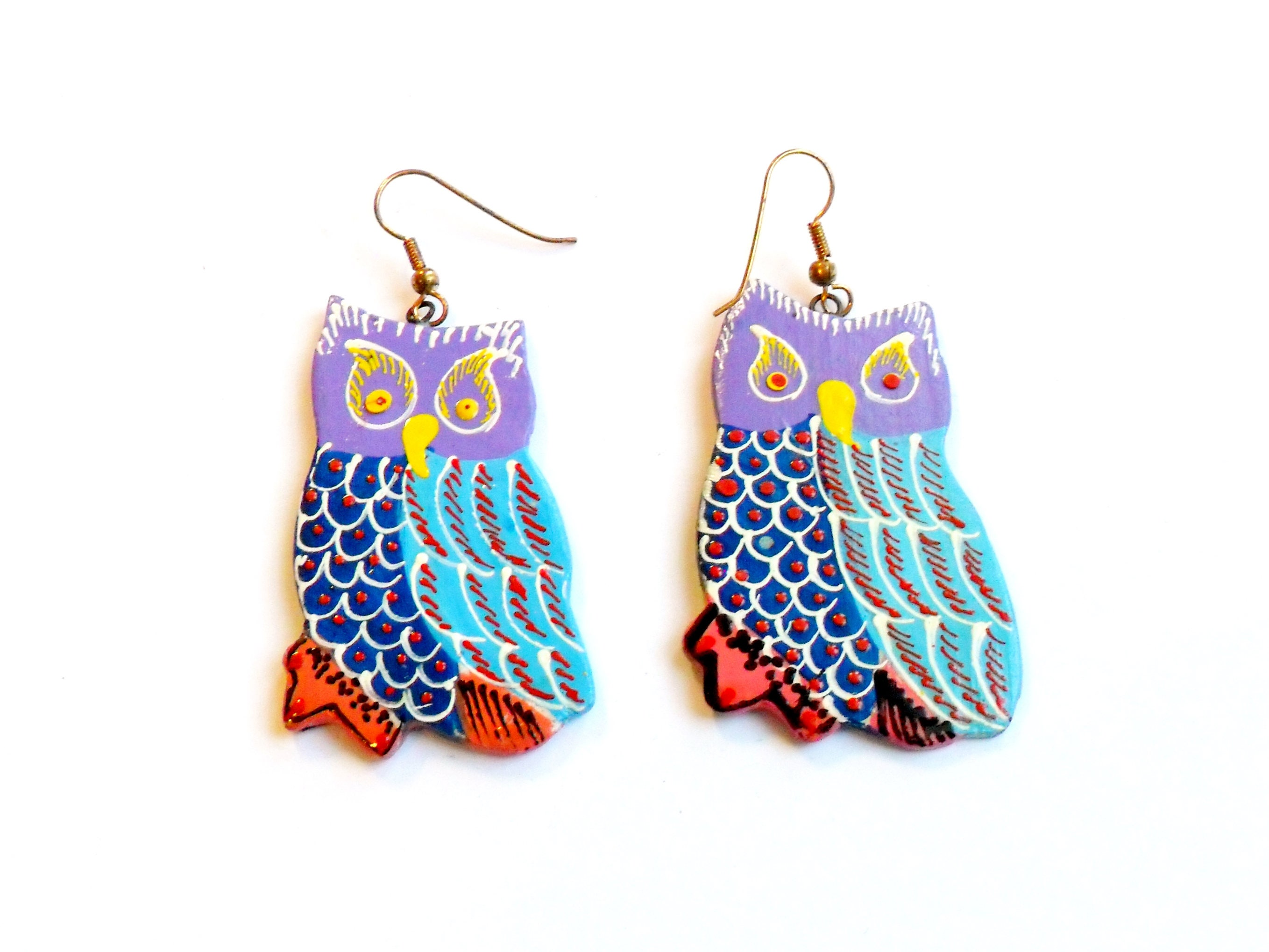 earrings artsy painted collections artworks wooden hand products earring