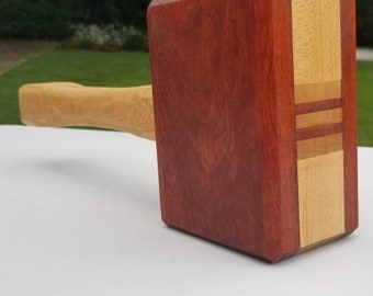 Jumbo mallet (bloodwood and hard maple)