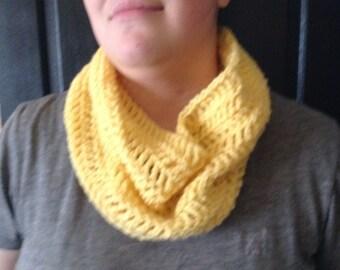 Yellow Crochet Cowl