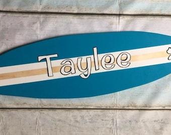 Wooden Surfboard/ Personalized surfboard/ Surfer Decor/ Beach Decor/ Beach House/ Beach Wedding/ Large Beach Wall Art/ Ocean Sign