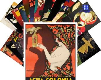 Postcards Set 24pcs * Achille Mauzan Vintage Ads Posters CC1101