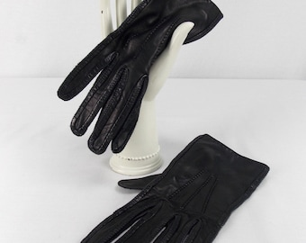Black Leather Driving Gloves by Loewe
