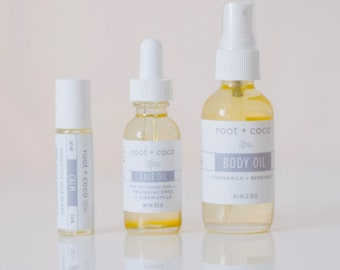 Spa Kit: Calm Oil, Face Oil, Body Oil