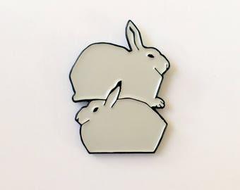Snow Hares Pin