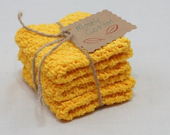 Crocheted Dishcloths, Yellow Dishcloths, Gift Sets, Gift Ideas, Gifts Under 20.00