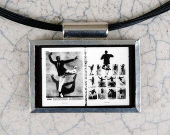 Fred Astaire Microfiche Necklace - Life Magazine December 1928