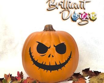 Pumpkin decal,Jack o lantern sticker,Halloween Decal,nightmare before christmas,Halloween sticker,pumpkin sticker,jack o lantern,skellington