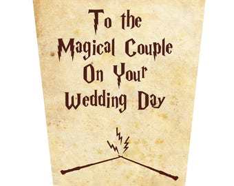 To The Magical Couple On Your Wedding Day Wedding Card