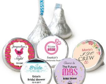 100 Personalised Bridal shower/ Bachelorette/ Hen Hersheys Kisses