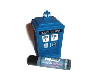 Bad Wolf  - Rose & Chocolate Doctor Who Inspired Lip Balm Geek Stix - Rose Tyler - Shimmer