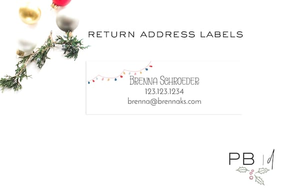 Holiday RETURN Address Labels | christmas, rodan and fields, christmas card, label, sticker
