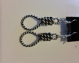 Hangman's Noose on Stainless (Surgical) Steel Fishhook Earwires