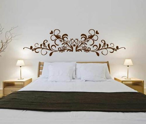 Testata barocca 3 wall decal sticker camera da letto - Stickers per camera da letto ...