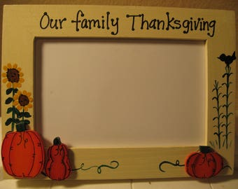 Thanksgiving frame Our Family Thanksgiving personalized family photo picture frame