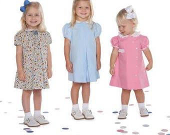 Aprons Dress Pattern / Carol Pattern / Jenny Leigh Pattern / Smocking Box / Aline Dress / Back Buttons / by Children's Corner #15