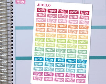 Planner Stickers - Payday Scalloped Labels - Fits Any Planner