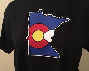Colorado Flag Minnesota State T-Shirt