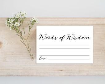 Words of wisdom card | Etsy