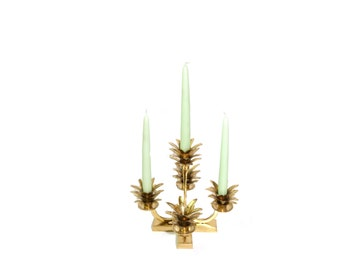 Pineapple Candelabra Pineapple Candlestick Pineapple Candle Holders Hollywood Regency Wedding Candelabra