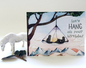 Let's Hang Birthday Card