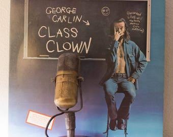 "George Carlin LP Record Album 1970s Comedy ""Class Clown: Recorded Live at the Santa Monica Civic Auditorium"" (1972 Little David Records)"