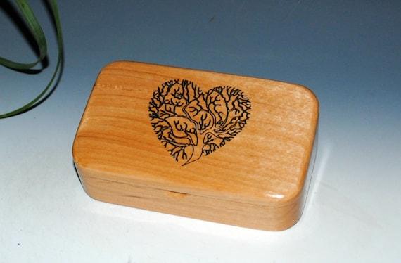 Wooden Box - Wood Box - Tree of Life Heart Engraved Alder-Gift Box, Trinket Box, Stash Box-Jewelry Box, Tresaure Box- Sacred Tree Box, Boxes