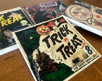 SALE*Trick or Treat Coaster Set- stone coasters