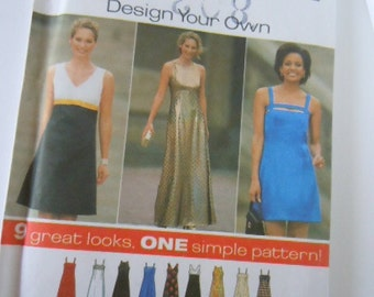 Simplicity Design Your Own Pattern 7510 Size 4-6-8 Womens Sewing Supply