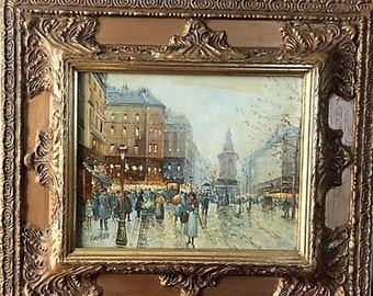 London Framed Oil Painting