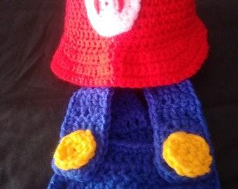 Super Mario and Luigi baby photo prop costume