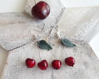 Cherry earrings cherry earrings