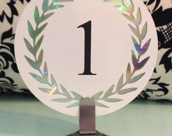 Cut Paper Round Table Numbers