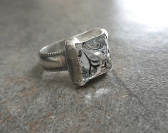 Pyramid Ring Sterling Silver